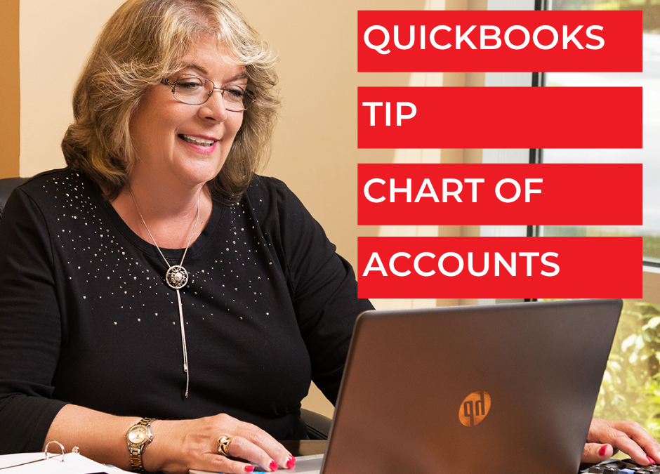 QuickBooks Tip: Chart of Accounts - Bookkeeping Confidential, full-service virtual bookkeeping firm for small businesses and startups.